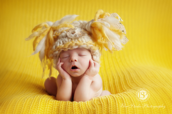 yellow theme baby photography